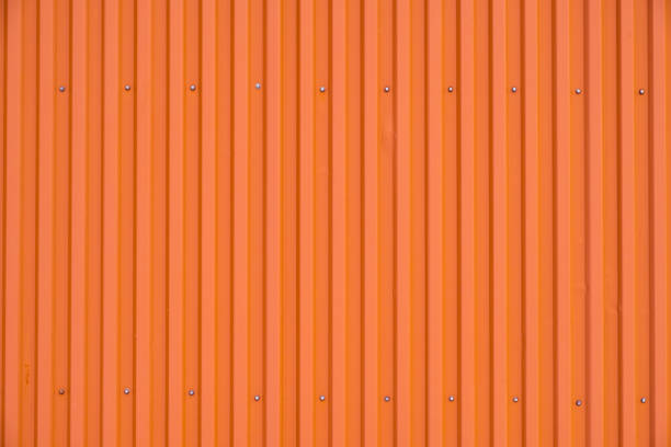 orange container row striped texture and background - container foto e immagini stock