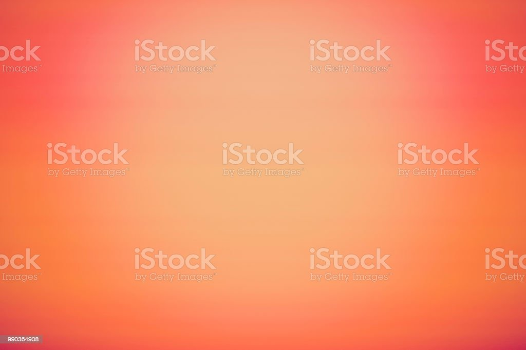 Orange coral abstract gradient vignette background stock photo