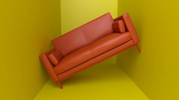 oranje bank - claustrofobie stockfoto's en -beelden