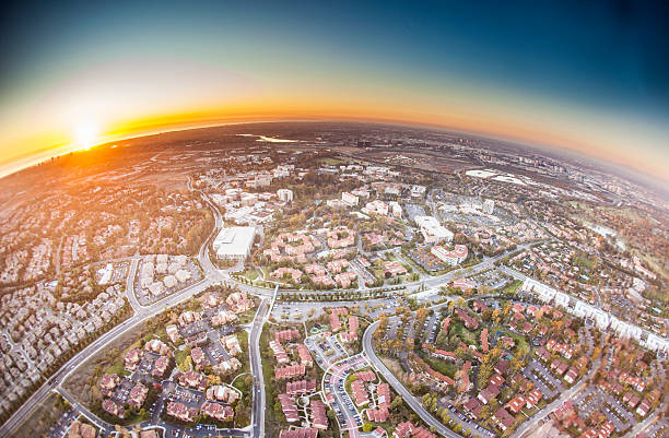 Orange County, California Orange County, California fish eye lens stock pictures, royalty-free photos & images