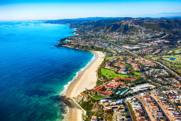 Orange County Coastline Aerial stock photo