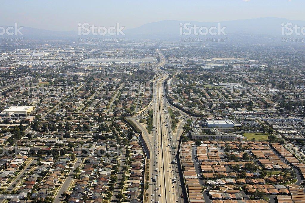 Orange County roadway royalty-free stock photo