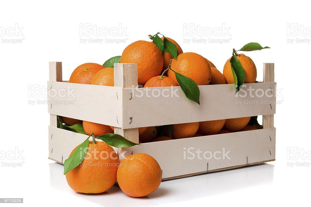Orange crate stock photo