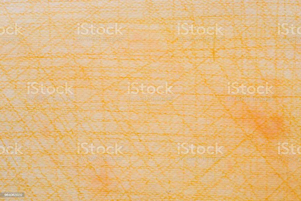 orange crayon doodles drawing on wtecolor painted background texture - Royalty-free Abstract Stock Photo