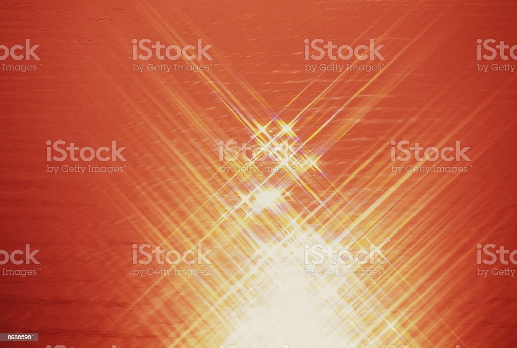 Orange Cross Rays royalty-free stock photo
