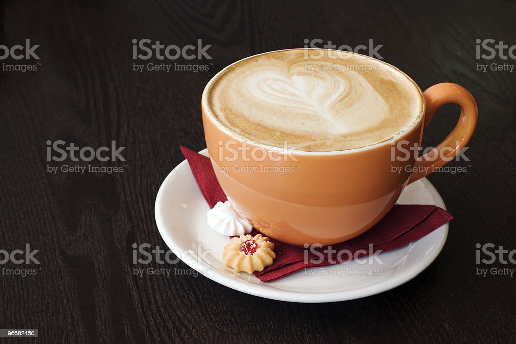 orange cup of coffe royalty-free stock photo