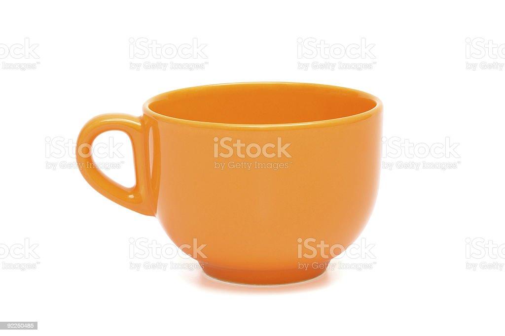 orange cup stock photo