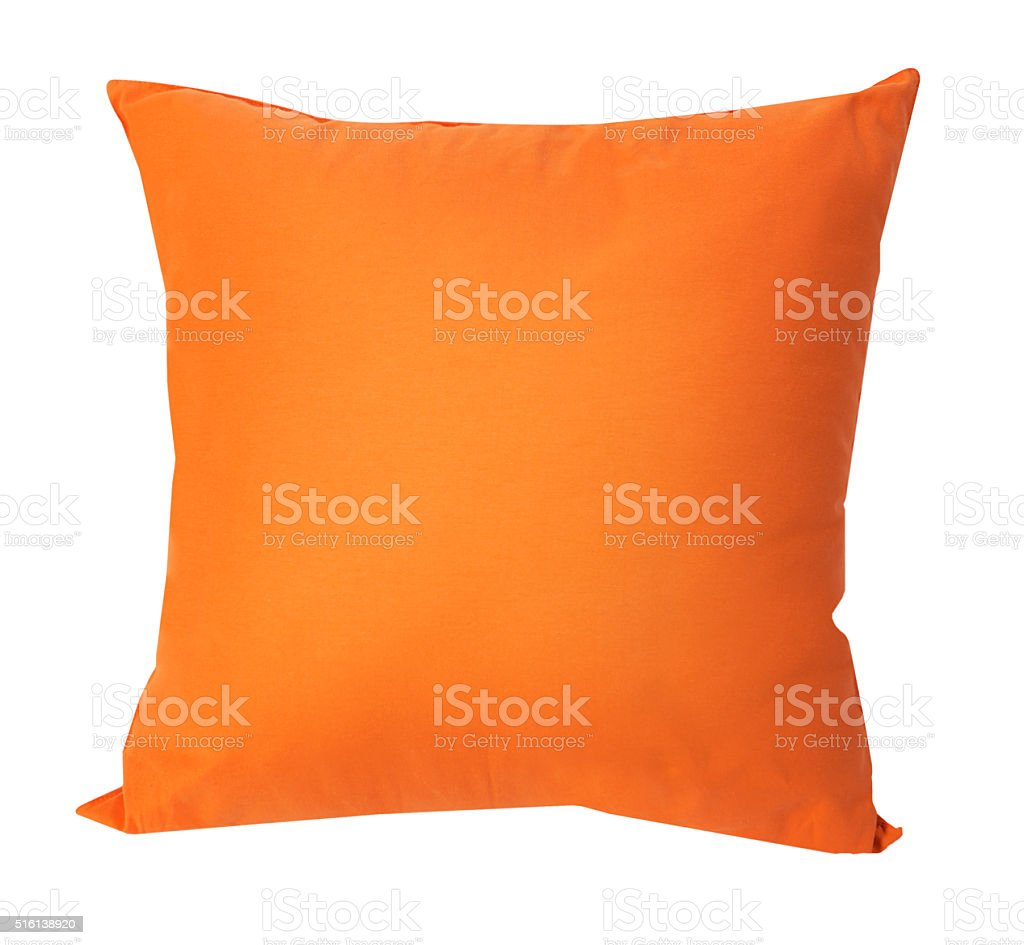 orange cushions stock photo