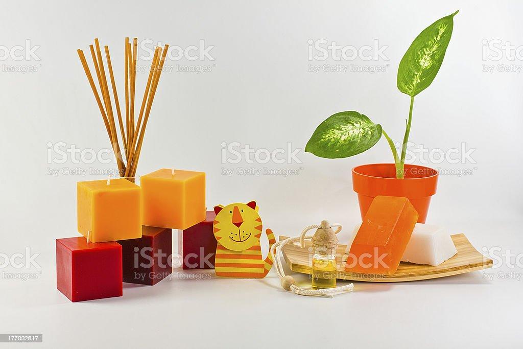 orange decorations for children's royalty-free stock photo