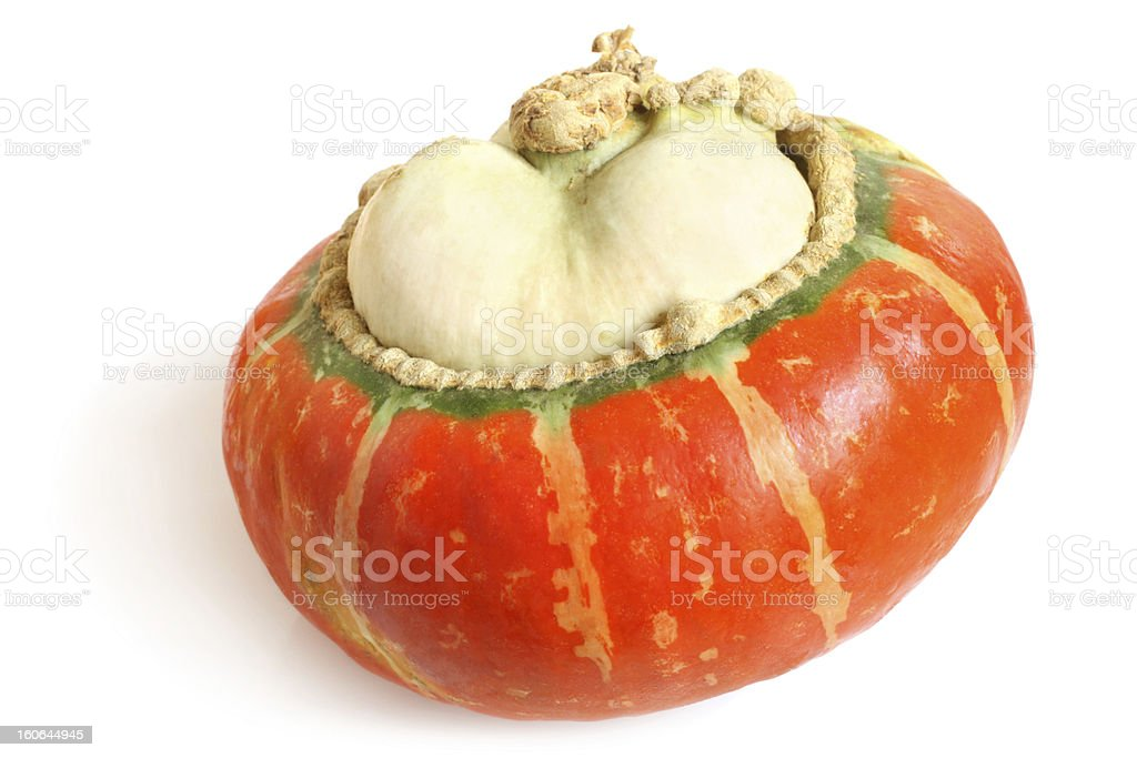 Orange decorative pumpkin royalty-free stock photo