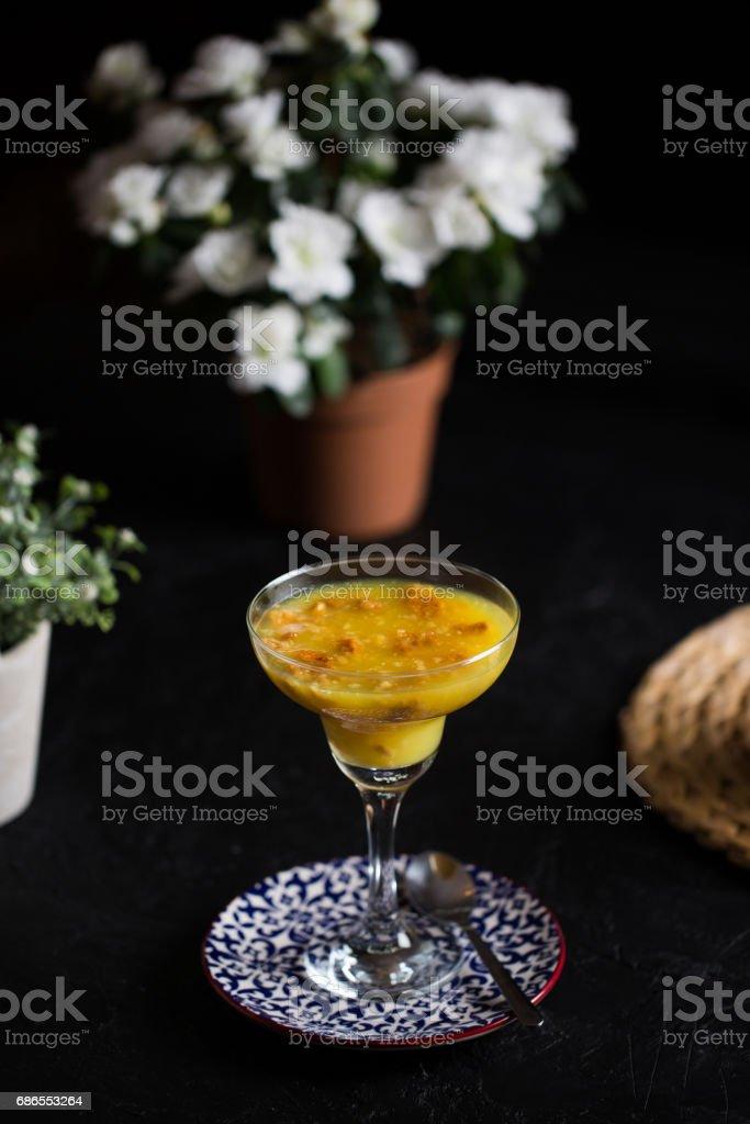 Orange Delicious Dessert royalty-free stock photo