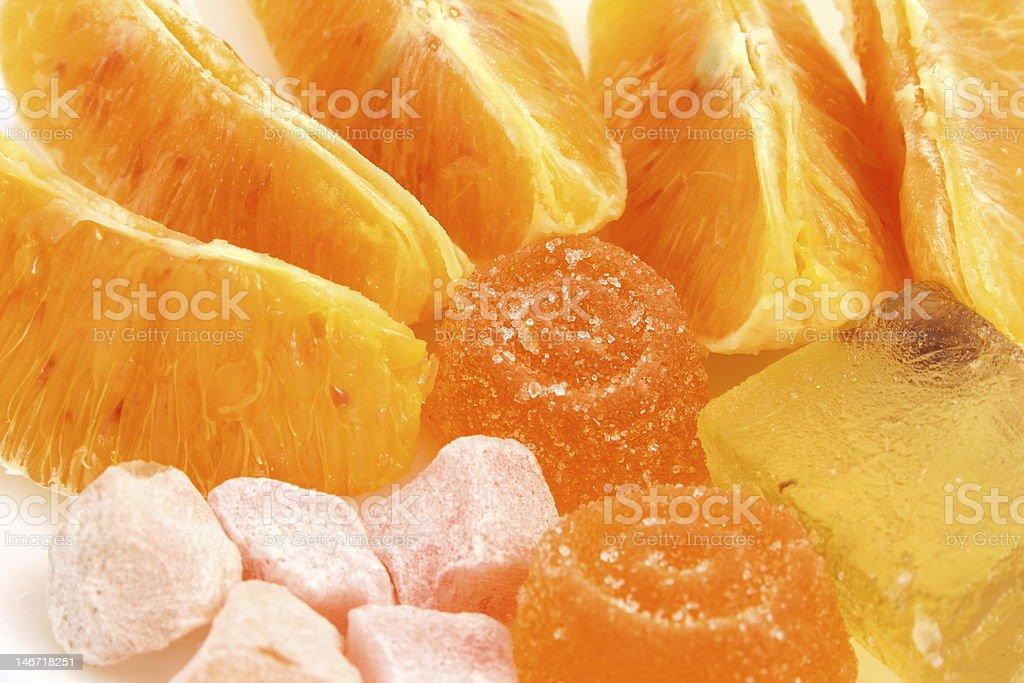 Orange dessert royalty-free stock photo