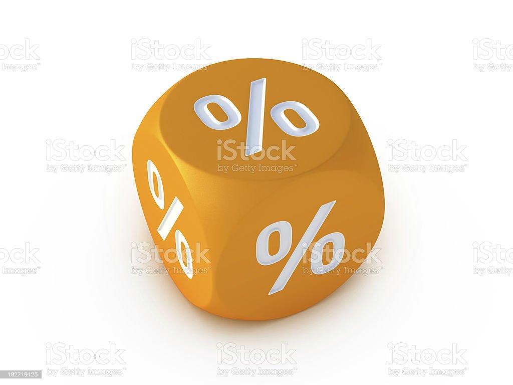 Orange Dice Percentage Symbol royalty-free stock photo