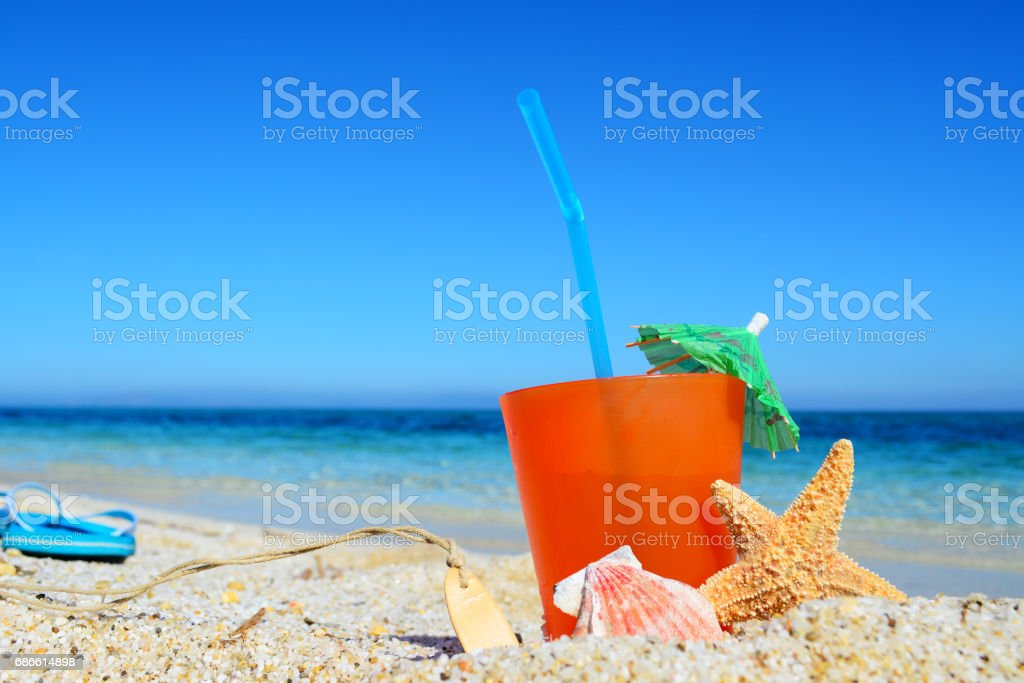 orange drink and blue sky royalty-free stock photo