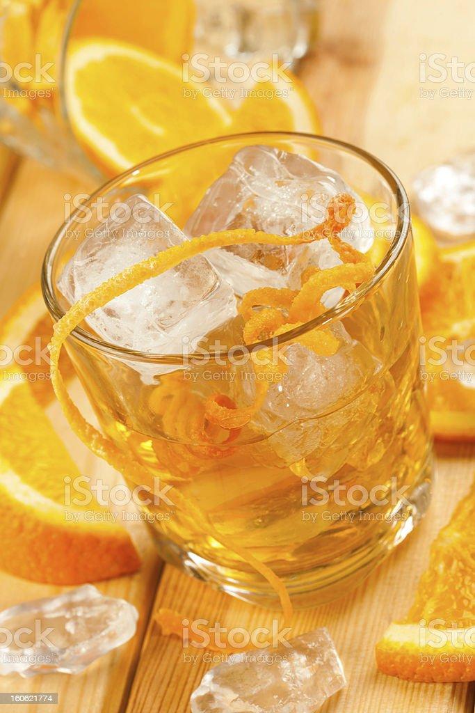 Orange drink royalty-free stock photo