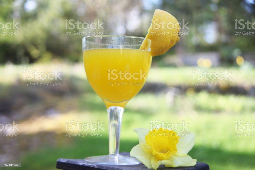 Orange drink stock photo