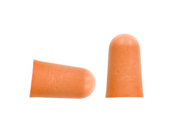 Turuncu kulak fişleri izole stok fotoğrafı