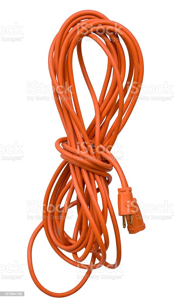 Orange Electrical Cord royalty-free stock photo