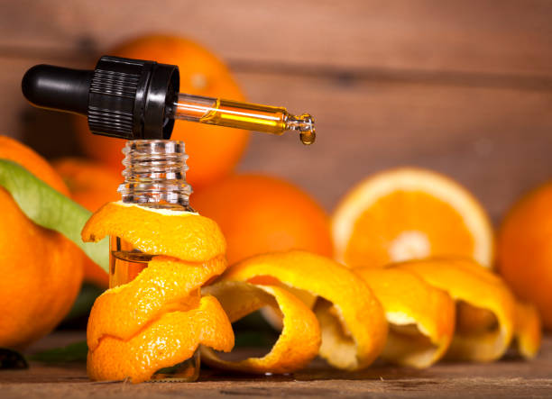 Orange Essential Oil stock photo