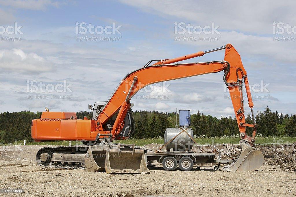 Orange Excavator royalty-free stock photo