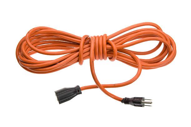 orange extension cordon d'alimentation - rallonge électrique photos et images de collection