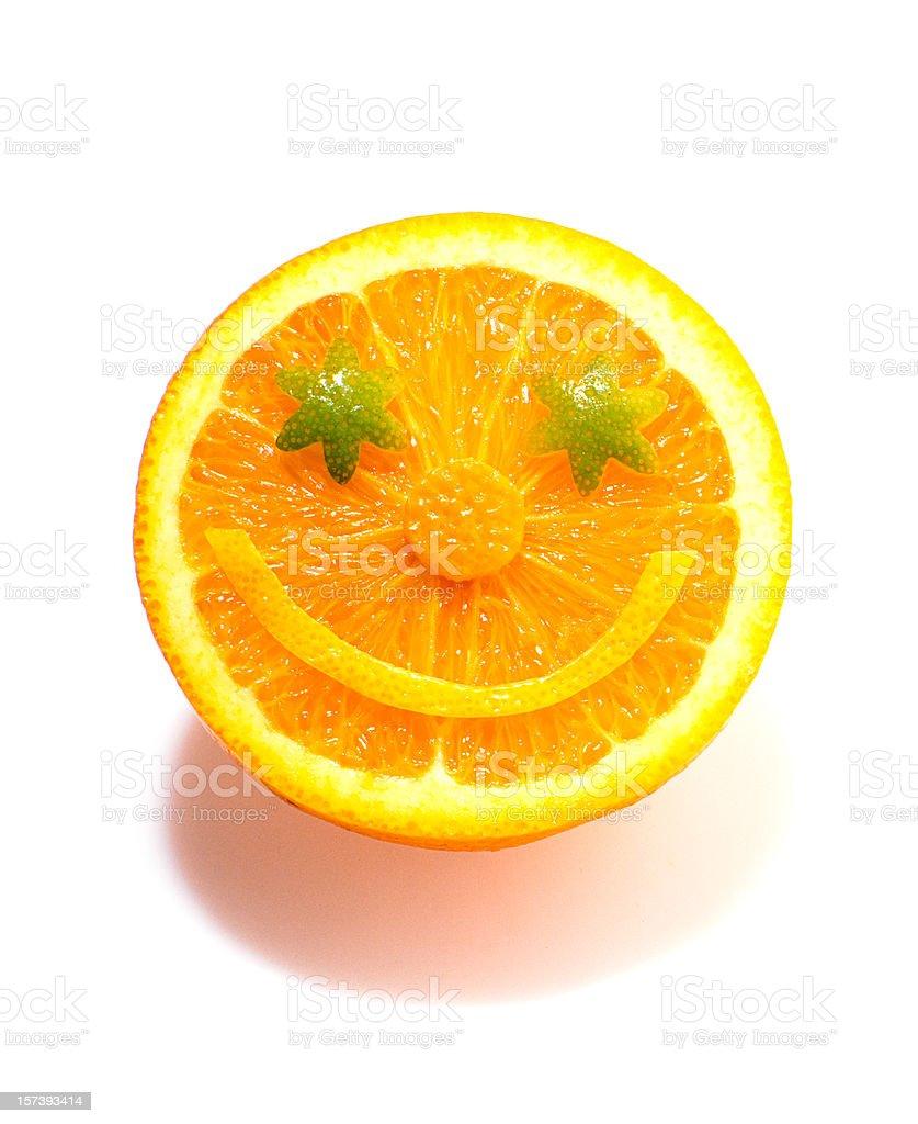 Orange Face royalty-free stock photo