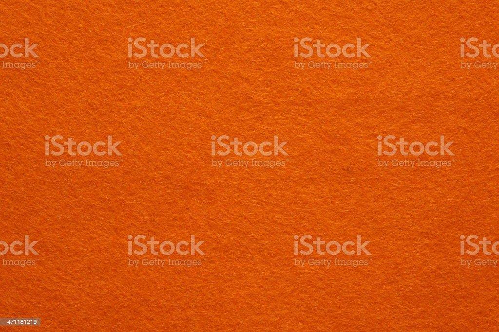 Orange Felt Background stock photo