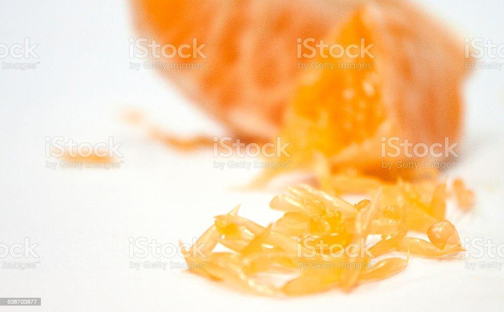 Orange fibers macro stock photo