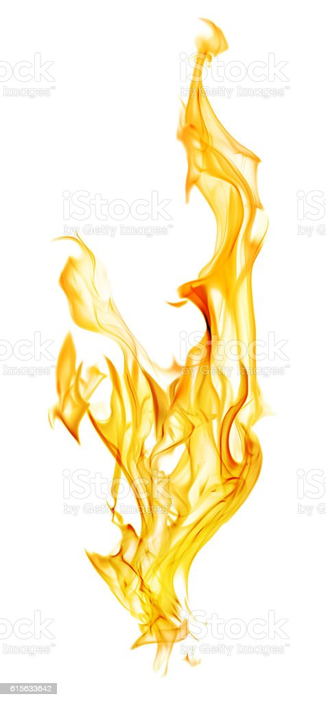 orange fire spark isolated on white stock photo