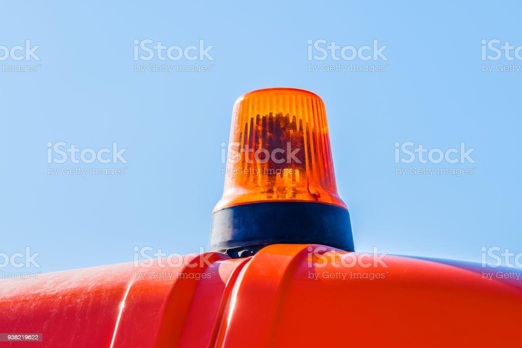 Orange flasher lamp stock photo