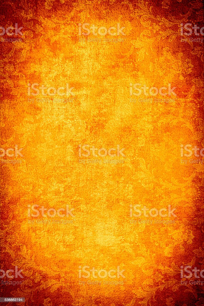 Orange Floral Abstract Background stock photo