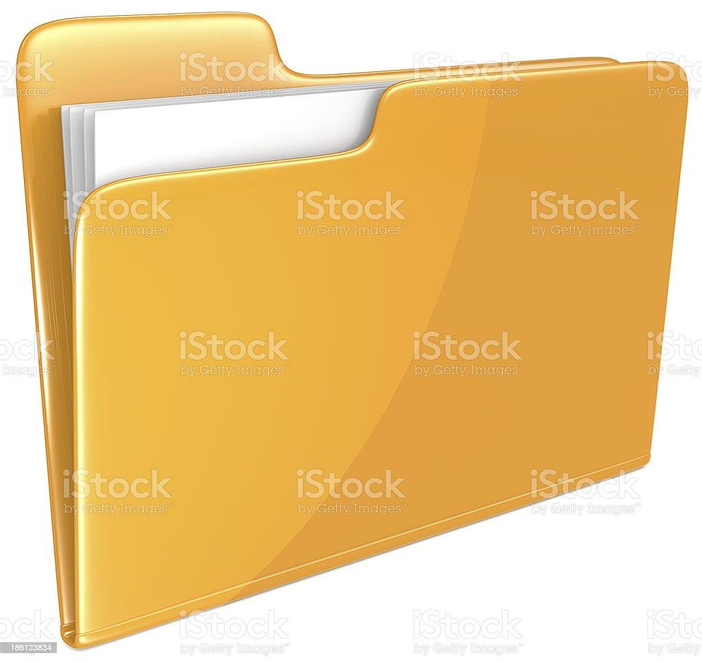 Orange Folder. royalty-free stock photo