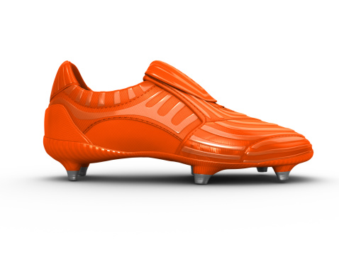 Football boot with clipping path that removes the shadow. See portfolio for more.
