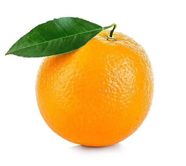 Orange fruit isolated on a white background. stock photo