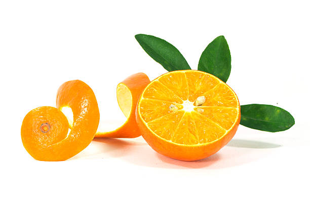 Orange Früchte isoliert auf weißem Hintergrund – Foto