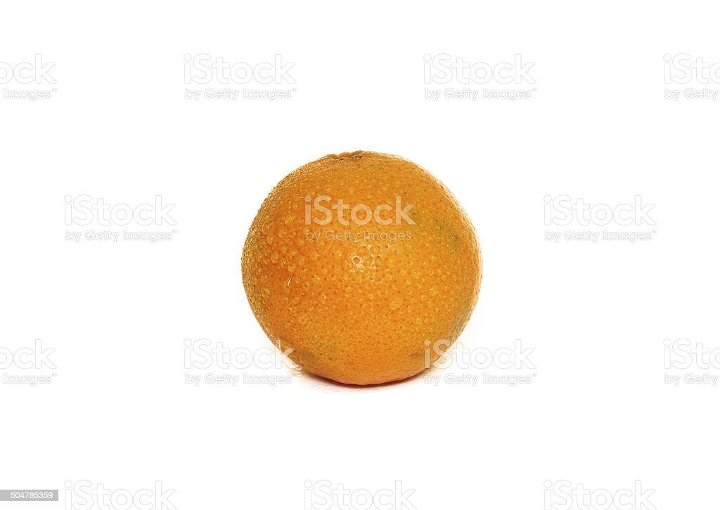 Orange fruit isolated on white background stock photo