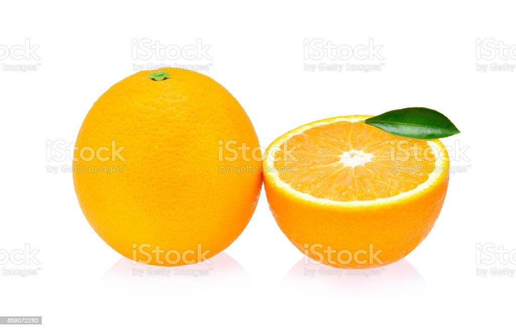 Orange fruit isolated on white background royalty-free stock photo