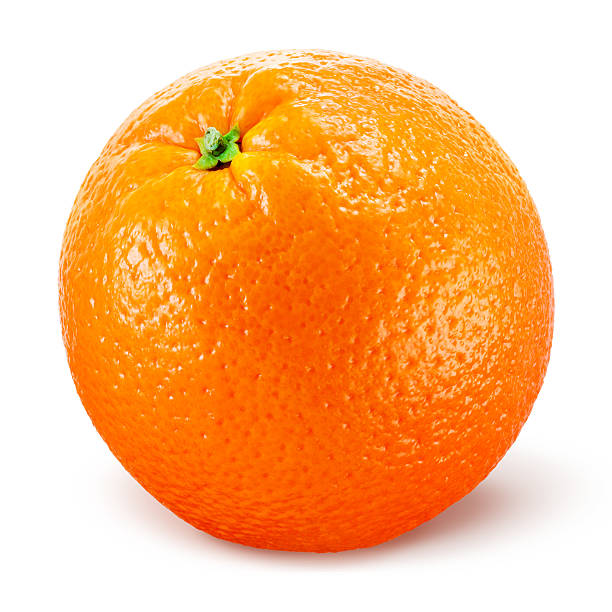 Frutas laranja Isolado no branco - foto de acervo