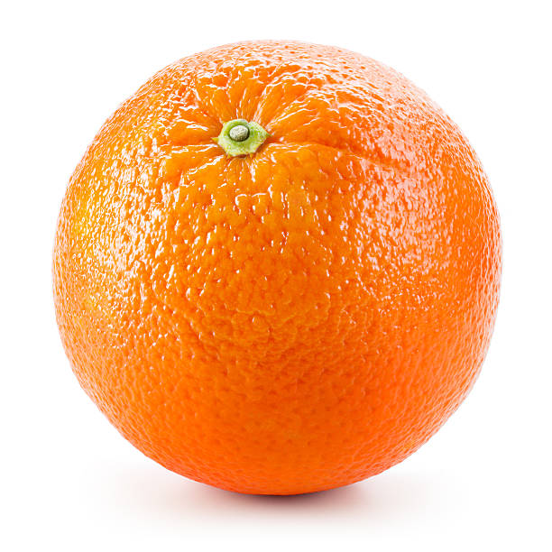 orange fruit isolated on white - single object stock pictures, royalty-free photos & images