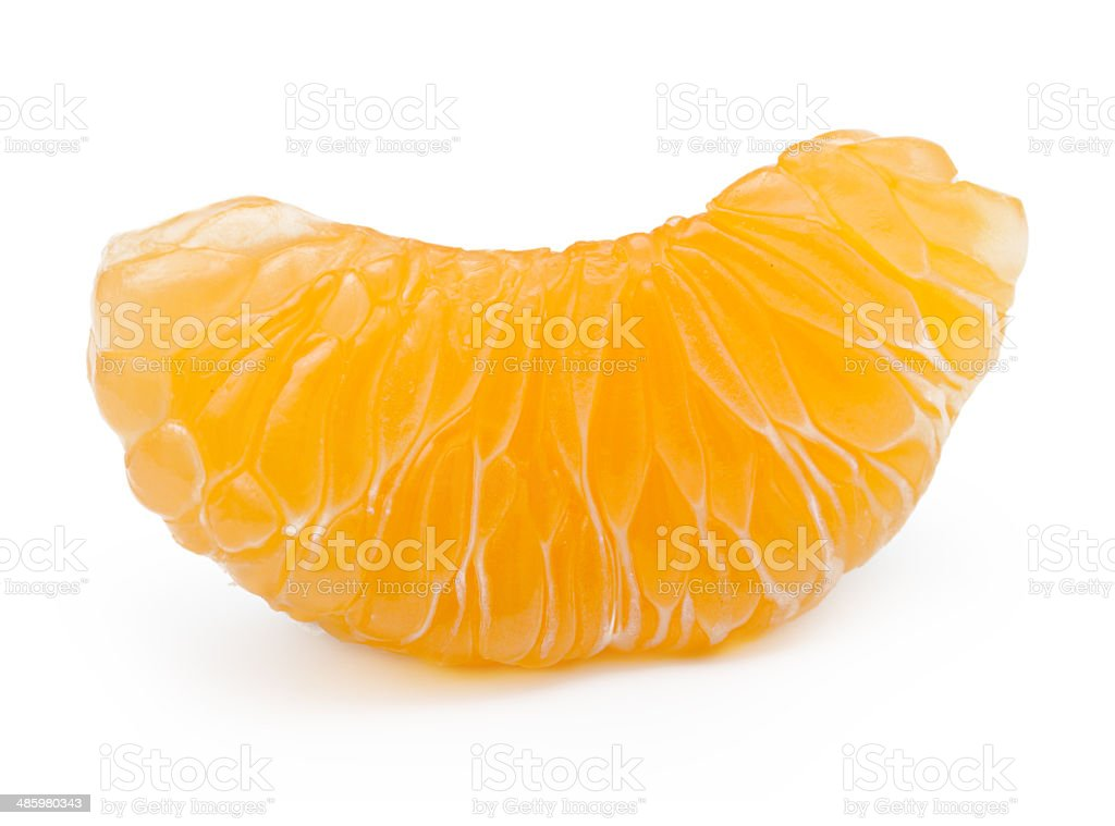 Orange fruit, mandarin, tangerine slice stock photo