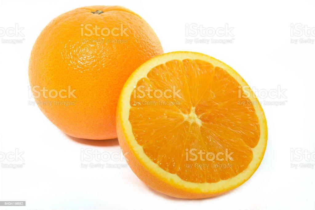 Orange Fruit on white background stock photo