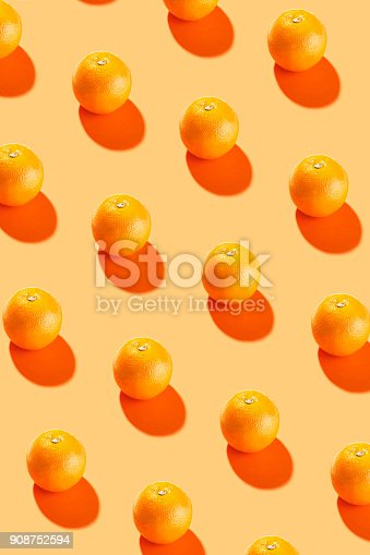 Orange fruit  on orange background