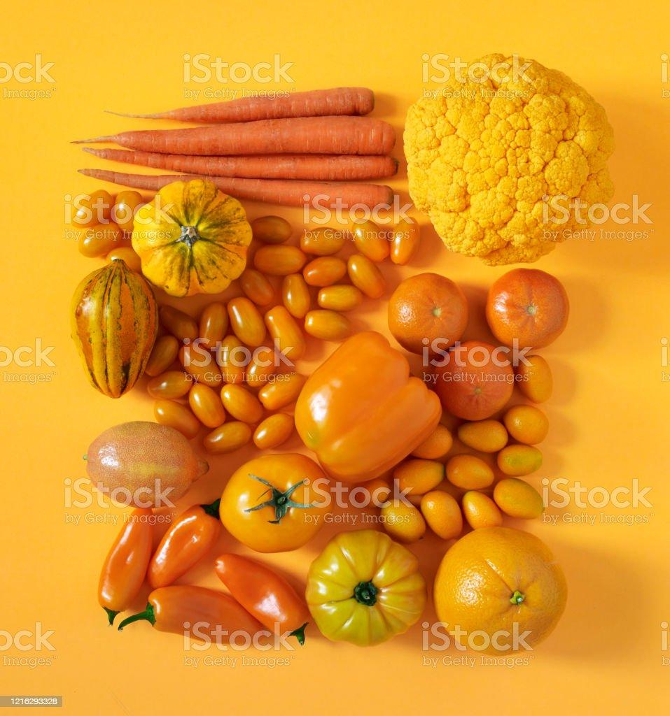 Fruits et légumes oranges - Photo de Agrume libre de droits