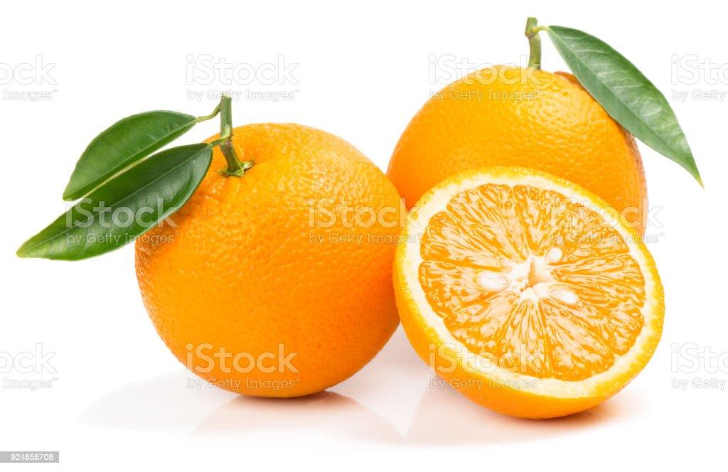 Frutas com fatia de laranja. - foto de acervo