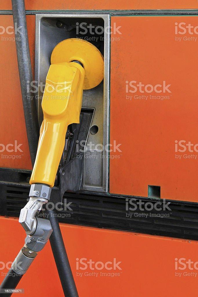 Orange Fuel Pump Nozzle royalty-free stock photo