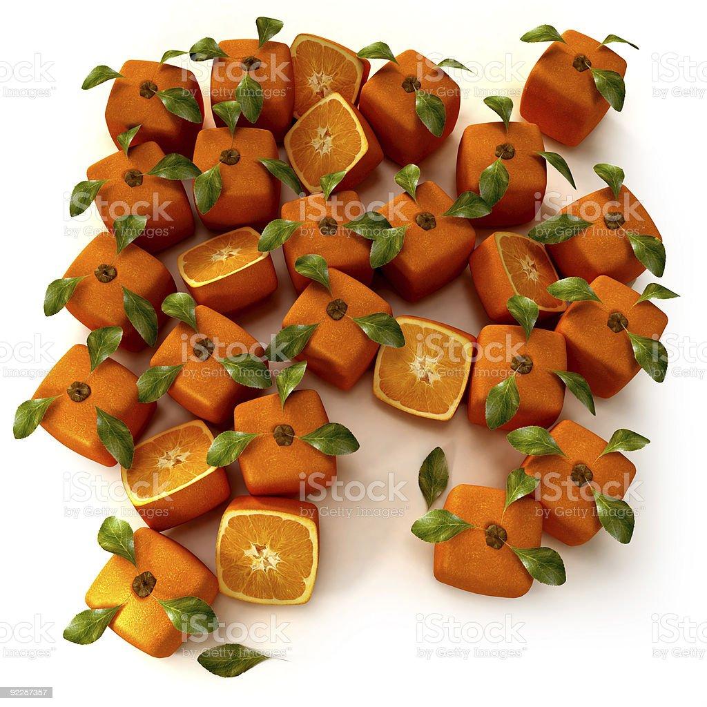 Orange garden royalty-free stock photo