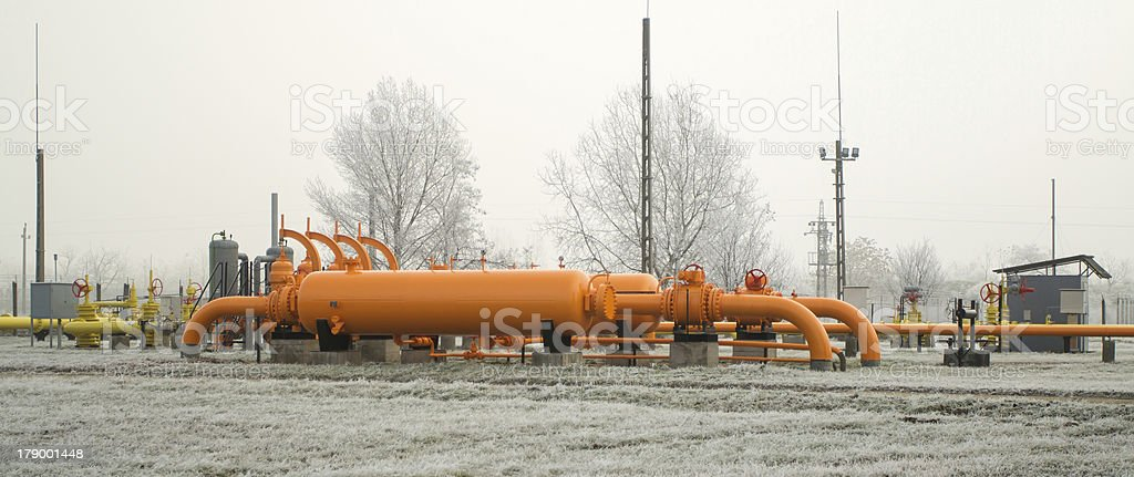 orange gas pipe royalty-free stock photo