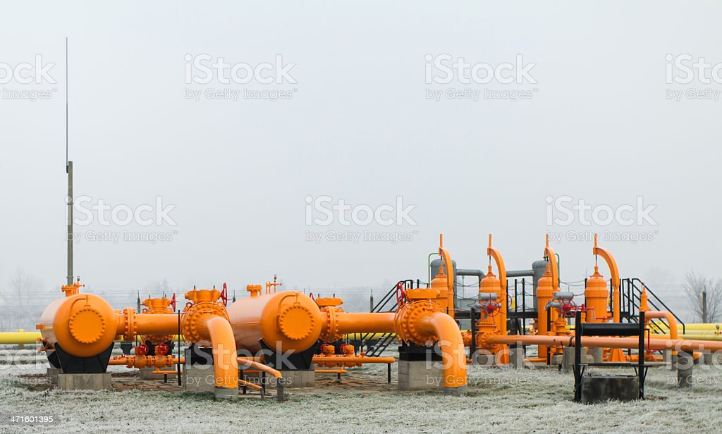 orange gas pipe royalty-free stock photo
