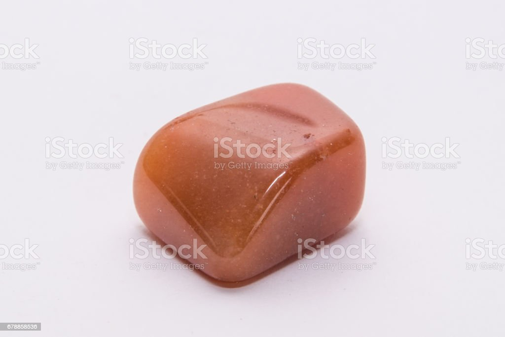 Orange gemstone gem jewel mineral precious shiny stock photo