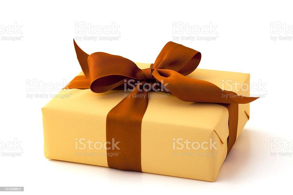 orange gift box royalty-free stock photo
